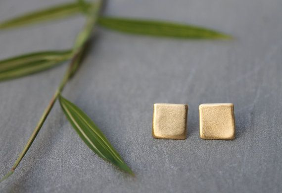 ★★★FREE EARRINGS on orders over $100★★★ I designed these dainty gold / silver stud earrings thinking of modern day women: with smooth feminine curves