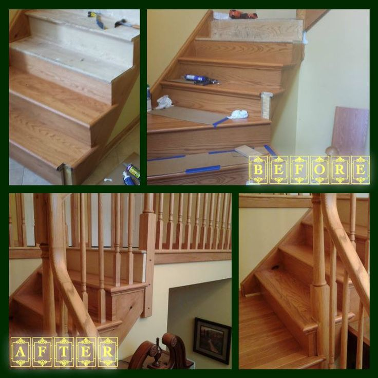 NuStair Install By Ju0026R Flooring In Spa, NY Red Oak Butterscotch #nustair # Retread  DIY Staircase Remodel   Stair Covers   Stair Caps   Stair Facingu2026