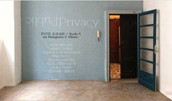 Public Privacy - Studio 6 di Alice Pedroletti, Milano. Un gioco, una mostra, un'interazione tra sfera personale, spazio neutro e persone sconosciute. Opere di 8 artisti a confronto, in occasione di Studi festival...