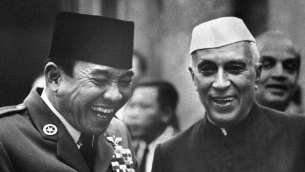 Gründungsväter: Gastgeber Sukarno und Jawaharlal Nehru