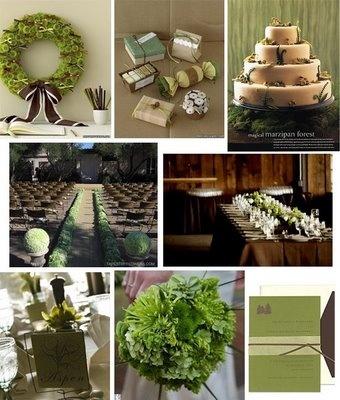 Green/Brown wedding