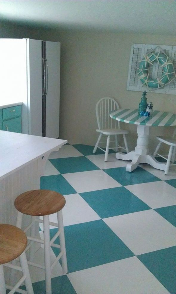My New and Easy to Do Coastal Kitchen. 33 best images about Painted Plywood Floor Ideas on Pinterest