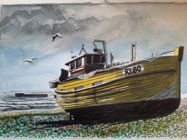 Hasting fishing boat