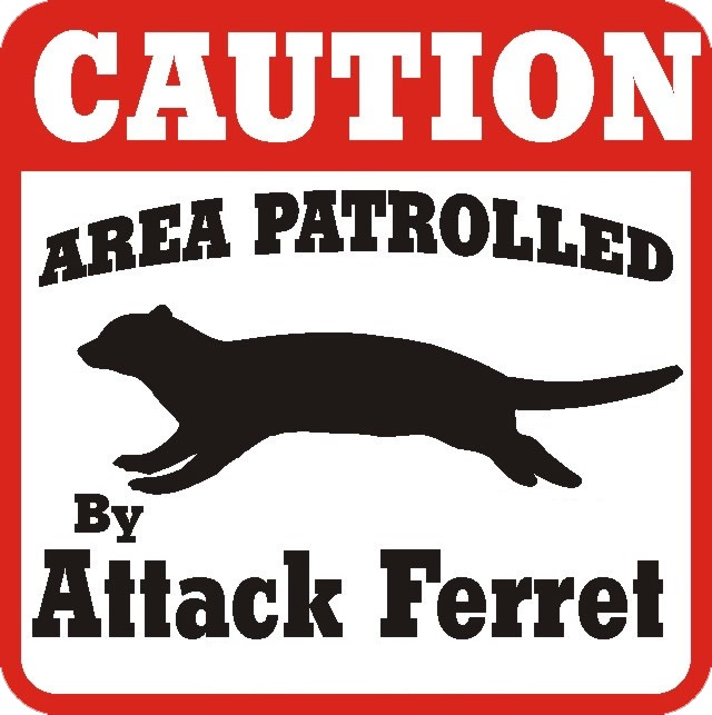 Attack Ferrets...I need this sign.