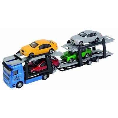 Chollo en Amazon España: Tráiler portacoches con 4 coches aleatorios Dickie por solo 9,82€ (un 34% de descuento sobre el precio de venta recomendado y precio mínimo histórico)