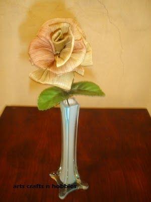 букет цветов из листьев кукурузы - талаша, мастер-класс (21) (300x400, 47Kb)