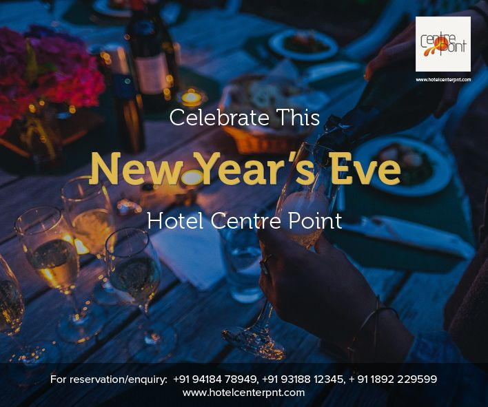 #Celebrate this #NewYearsEve with #HotelCentrePointDharamsala  Couple Entry: Rs. 2700/- Child Above 10 Years Old: Rs. 1000 /- *D.J. *Drinks (100 Piper 12yr Old, Vodka) Complimentary Shooter at Mid Night Variety of Veg and Non-Veg Food & Snacks Prizes for Best #Couple #Dance and more...  ✆ +91 9318 812 345, +91 7833 812 594, + 91 9418 478 949  #Dharamshala #Restaurant #HappyNewYear #Drinks #Food #Happy #Gift #Love #win #Romance #RoofTop