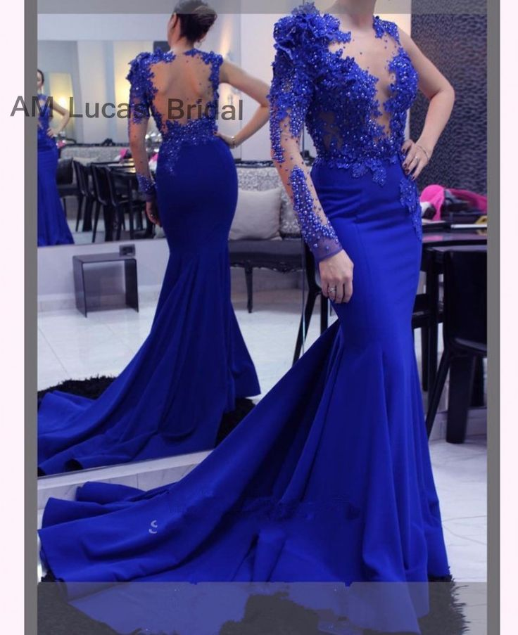 2017 Mermaid Evening Dresses With Long Sleeves Illusions Vestido De Festa Princess Style Formal Gowns For Wedding Party Dresses