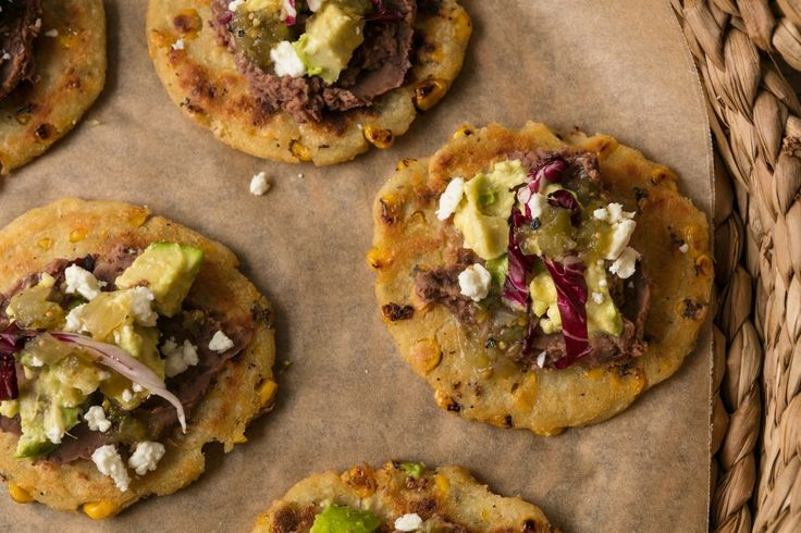 Corn Cakes With Black Bean Spread