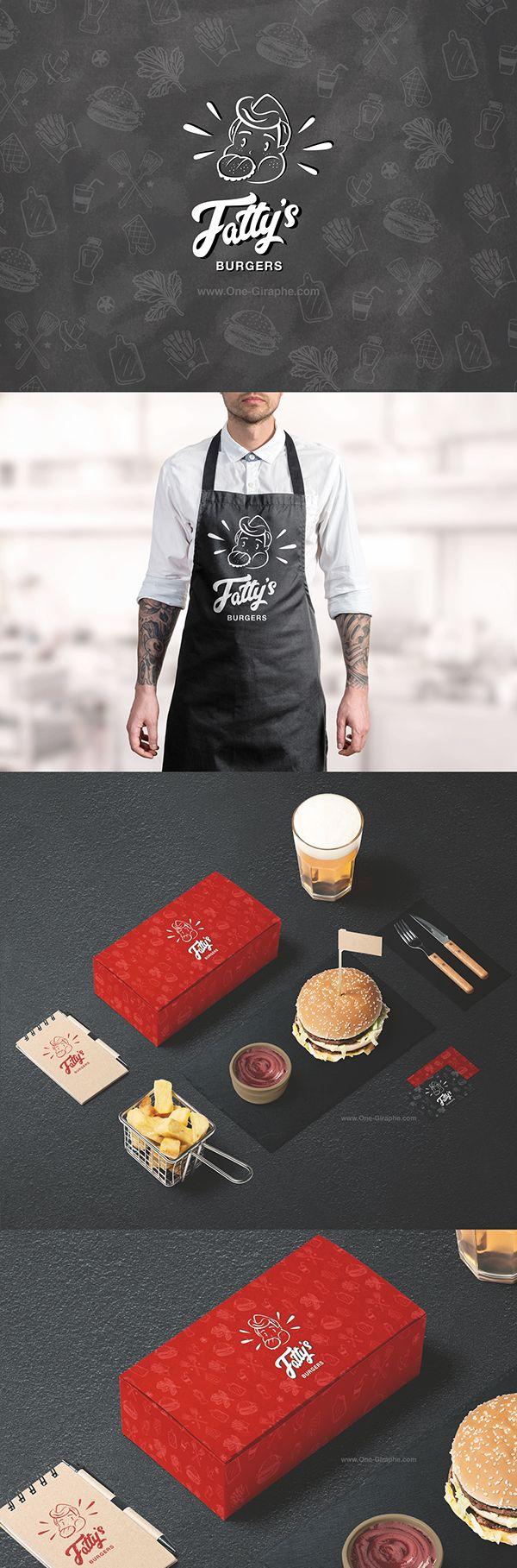 Custom Logo for sale: Fatty's Burgers: http://one-giraphe.com/prev.php?c=209  #logo #burger #customlogo #behance #logos #designer #brandidentity #fastfood #restaurant #graphic #graphicdesign