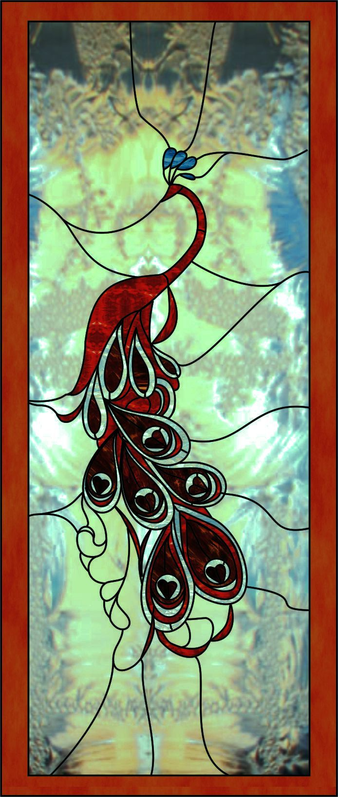 805 Best Stained Glass Pea Cock Images On Pinterest