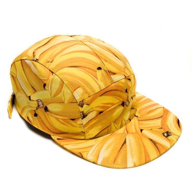MOUPIA Bananas 5 Panel Hat: Moupia 5Panel, Hats Ideas, Beanie, Streetwear, Clothing Tennis, Products, 5 Panels Hats, Moupia Bananas