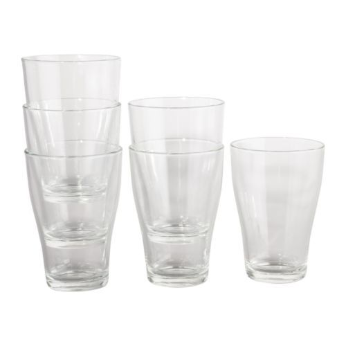 IKEA 365+ Glass IKEA Can be stacked inside one another to save space in your cabinets when not in use. #3.99 for 6