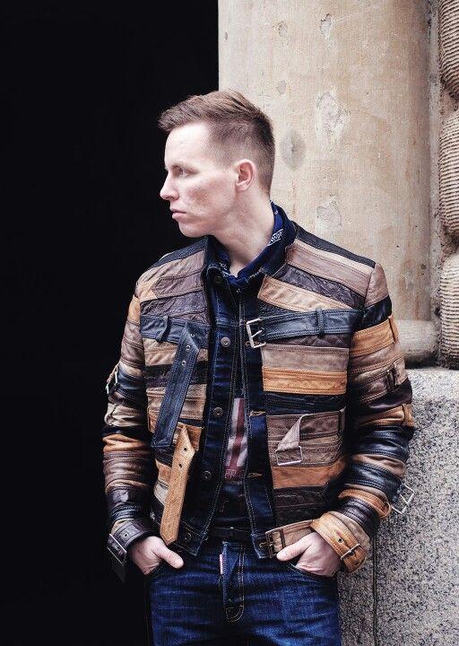 Maison Martin Margiela with H&M leather jacket