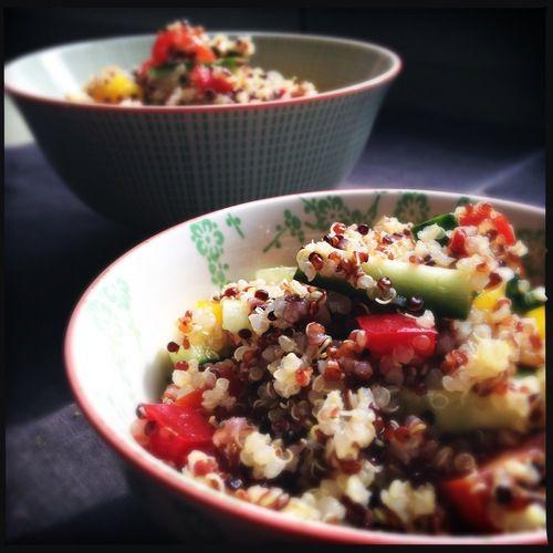 quinoa con verdure croccanti e salsa agrodolce