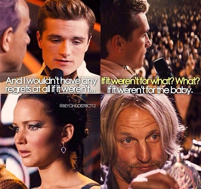 """She's like """"say what?!"""" and Haymitch is all """"You little genius! That's my boy..."""" Haha"""