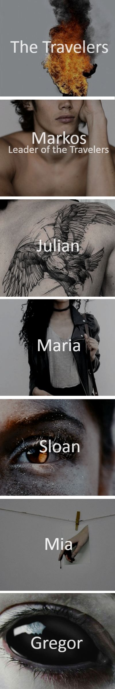 TVD characters _All travelers/Markos/Julian/Maria/Sloan/Mia/Gregor_ - The Travelers - Work: D.A.