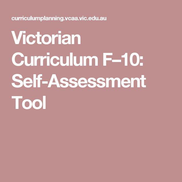 Victorian Curriculum F–10: Self-Assessment Tool