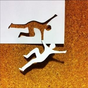 kirigami - positive and negative space by leona