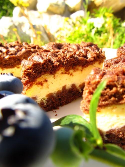 Kakaowy sernik | Cheesecake with cocoa