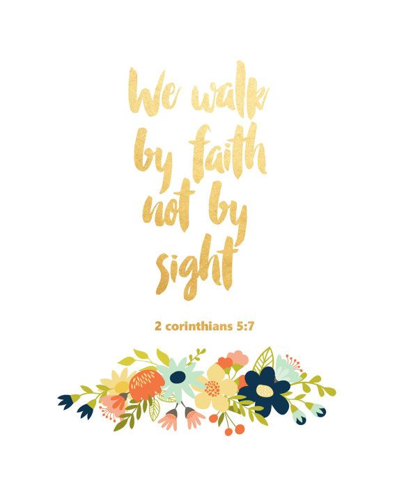 We Walk By Faith Not by Sight Printable Art by PaperStormPrints