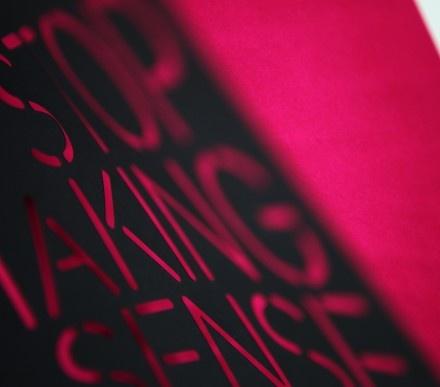 Lasergestanztes Cover im Detail