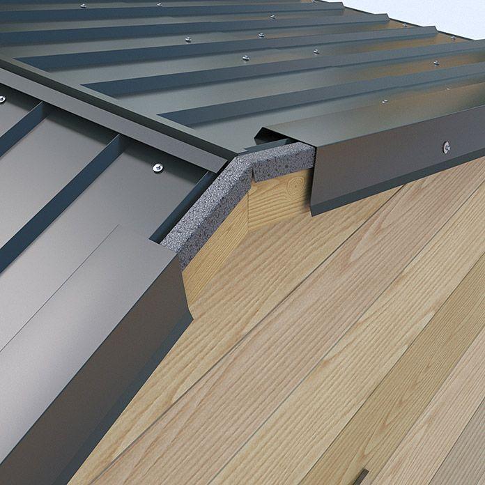 Sdf Ortgangblech 2m Anthrazit Gartenhaus Dach Hausverkleidung Zinkdach