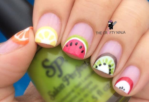 Amazing Fruit Nail Art Tutorials You Can DIY   Fruit nail art, Fruit nail  designs and Art tutorials - Amazing Fruit Nail Art Tutorials You Can DIY Fruit Nail Art, Fruit