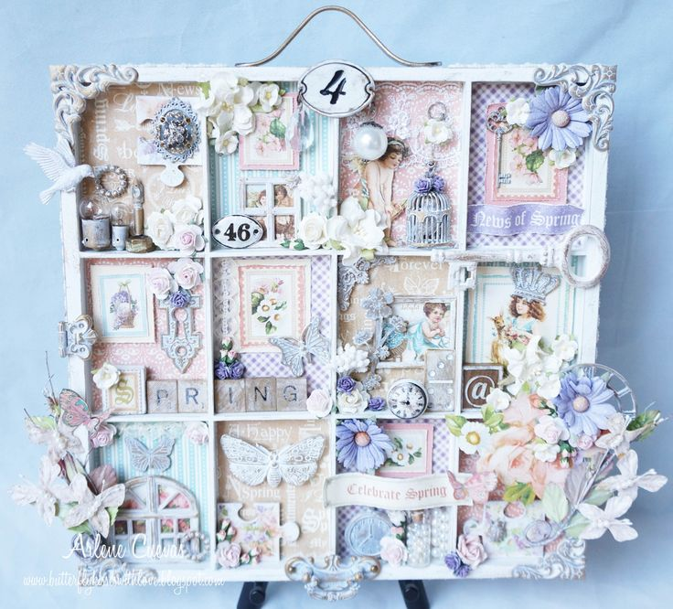 Altered Printers Tray created for discountpapercrafts.etsy.com featuring Graphic 45's Sweet Sentiments.  By Arlene Butterflykisses