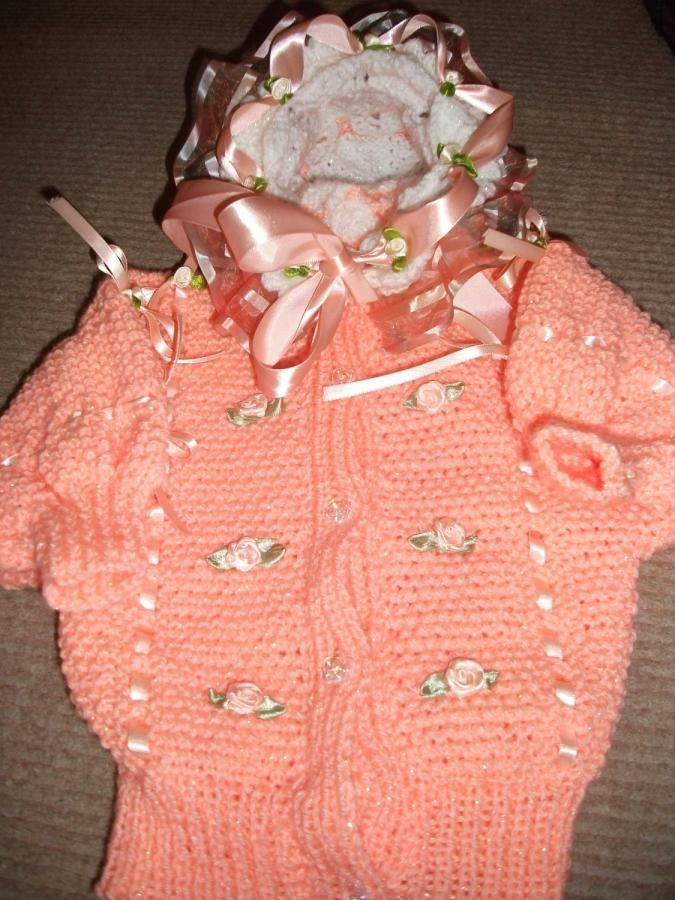 Peach Swarovski Set - Knitting creation by mobilecrafts | Knit.Community