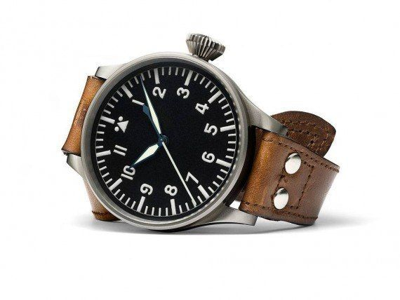 @iwcwatches Big Pilot's Watch (1940) - this first IWC Big Pilot's Watch (Ref. IW431, with Caliber 52 T.S.C.) was supplied to the Luftwaffe (German Air Force) in 1940 in an edition of 1,000 pieces.  More @ http://www.watchtime.com/featured/time-flies-9-historic-iwc-pilots-watches/ #iwcwatches #watchtime #pilotswatch