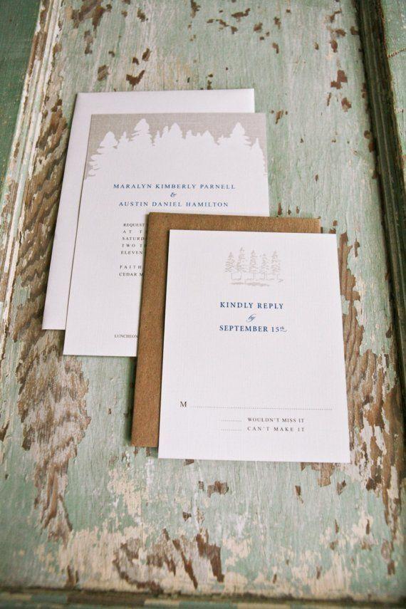 Rustic Wedding Invitation Set  WILDWOOD by lanodesignstudio, $825.00
