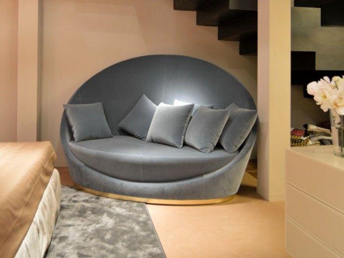 Die besten 25+ Rundes sofa Ideen auf Pinterest Möbel, Gebogenes - designer couch modelle komfort