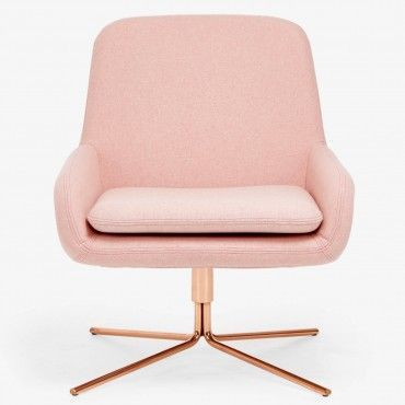 Softline Coco Pink Swivel Chair | Drawing inspiration from mid-century modern styles, architects Busk + Hertzog designed this organically shaped, molded seat set on a geometric, swivel base. | www.bocadolobo.com/ #inspirationideas #interiordesign #furniture #interiordesigninspiration