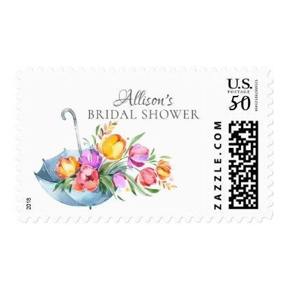 color tulip bridal shower postage stamp floral bridal shower gifts wedding bride party