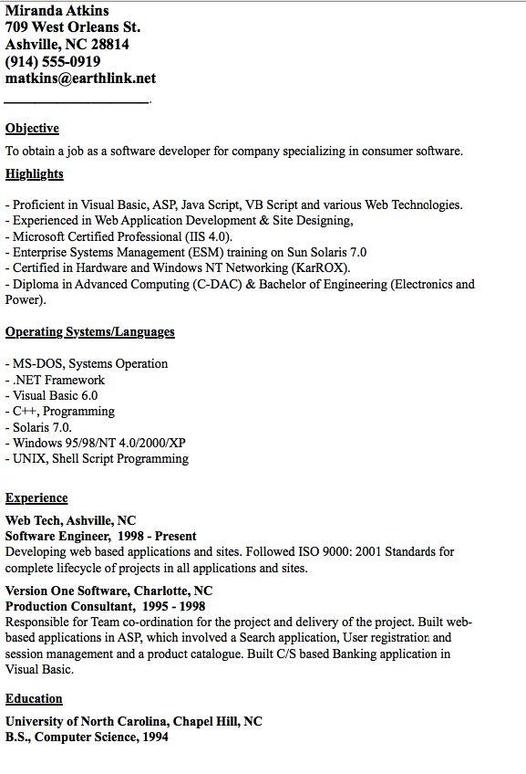 Example of Developer Resume - http\/\/resumesdesign\/example-of - courtesy clerk resume