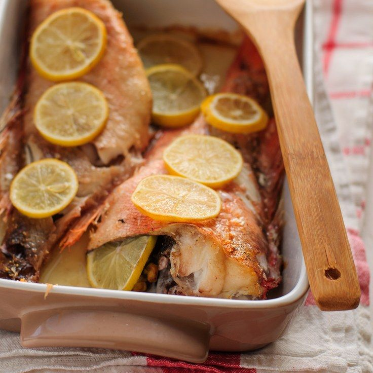 Baked Whole Red Snapper with Garlic