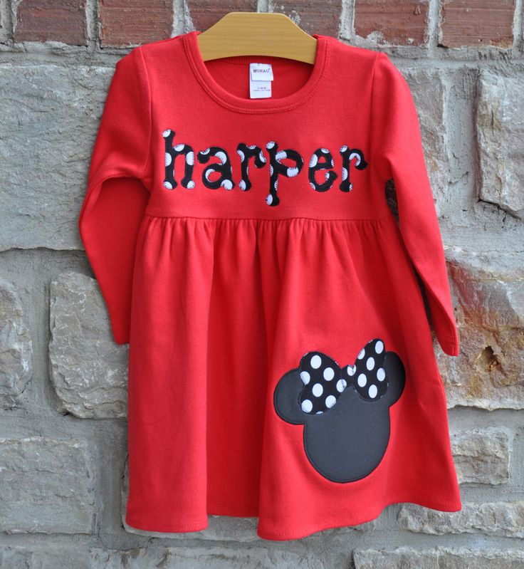 Make it a Mouse Monogram Personalized Dress  by julianneoriginals, $31.95