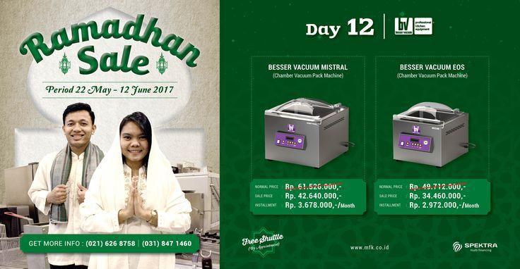 Day 12 Ramadhan Sale : Yuk lindungi bahan makanan Anda dari kontaminasi bakteri dengan Besser Vacuum! #ramadhansale #besservacuum