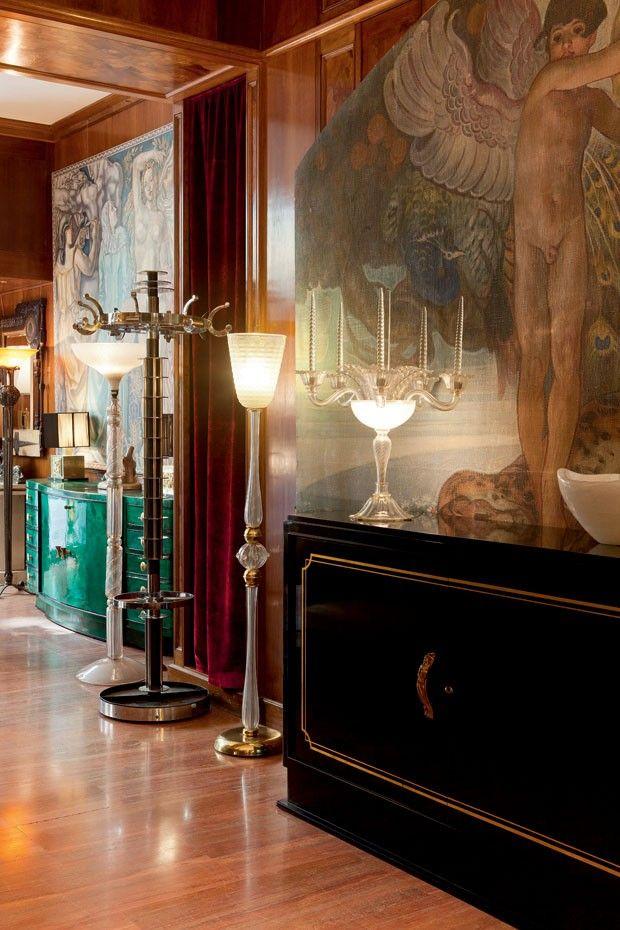 Interiores da Galleria Robertaebasta, no coração do bairro histórico de Brera