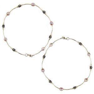 Amethyst Gemstone Anklets Silver Jewelry (Jewelry)  http://balanceddiet.me.uk/lushstuff.php?p=B0072F65UK  B0072F65UK