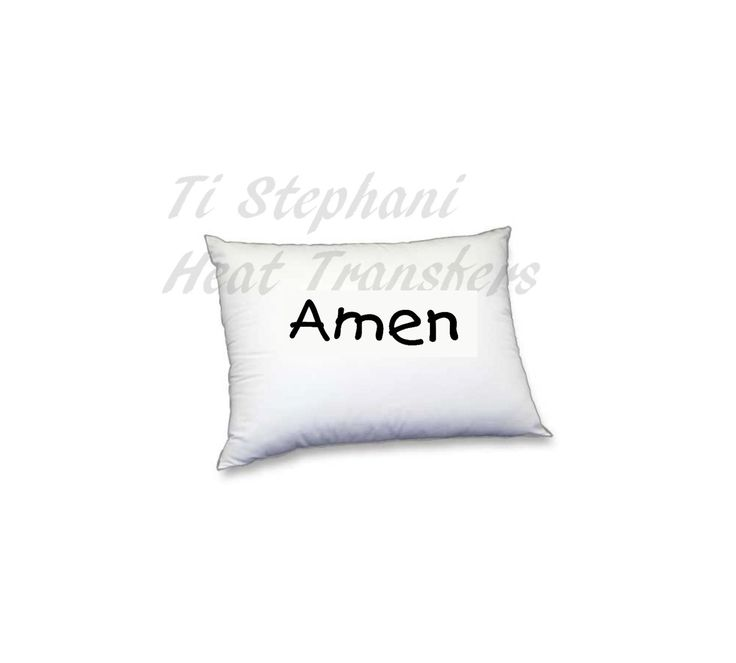 Amen Iron On, vinyl for heat transfer, Digital Download, Iron on Transfer T-Shirt design, totes, aprons, Onesies , pillows, Image Transfers by TiStephani on Etsy