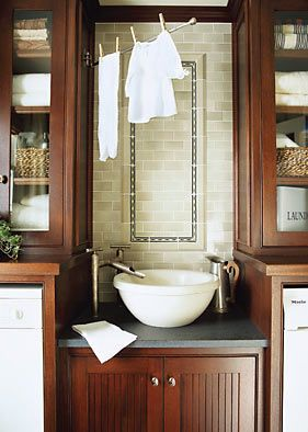 put three rod towel hangar thing that I have that's similar to this in the laundry room?
