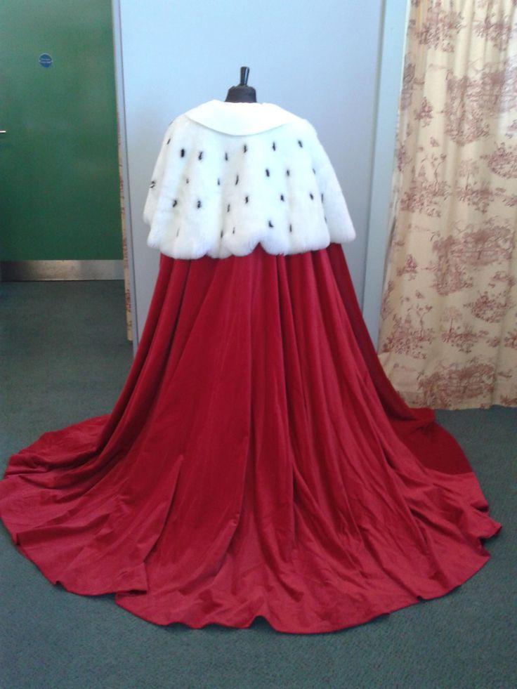 Red Ermine Cape/ Robe. Available to hire from Royal Exchange Costume Hire, Manchester.
