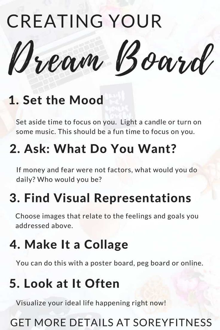 How to Make a Vision Board in 5 Simple Steps – Dream Board