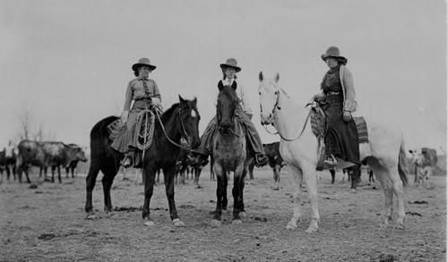 Believe it or not there is a National Cowgirl Museum and Hall of Fame in the US which prove that women did do ranch work, rode horses really well and toiled alongside men- you go girls. In fact, Wyoming gave women the vote back in 1869 and photographer Evelyn Cameron captured women's contributions on ranches.