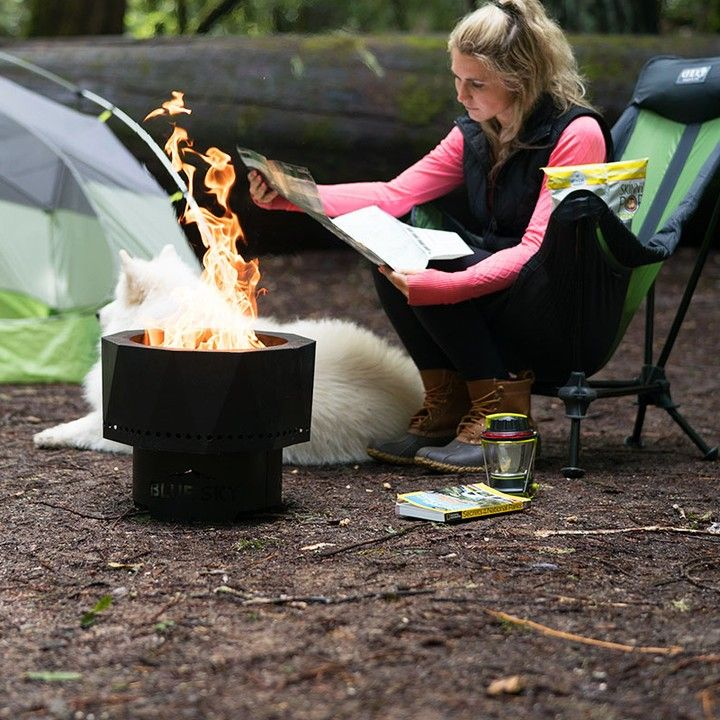 Take The Blue Sky Portable Fire Pit Wherever You Go The Best Small Fire Pit For Camping Tailgating Or For Camping Fire Pit Cool Fire Pits Portable Fire Pits