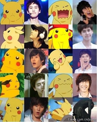 ... Is it just me? or do I have the feeling this was destined to be re-pinned? :) #Kpop funny #Pikachu