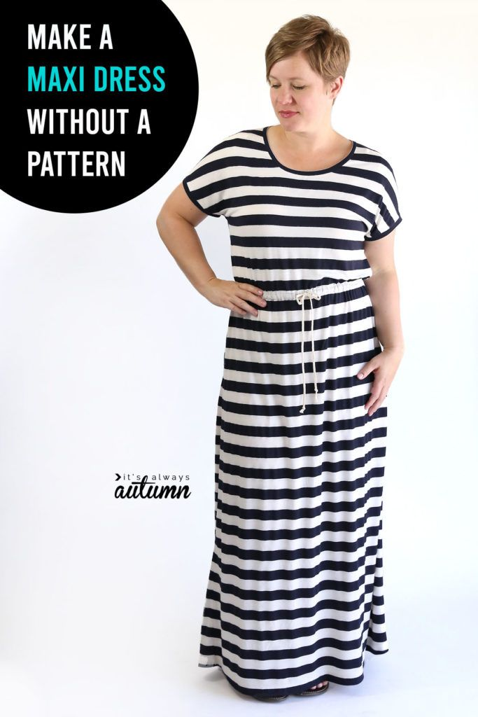 How To Sew A Maxi Dress Maxi Dress With Sleeves Sew Maxi
