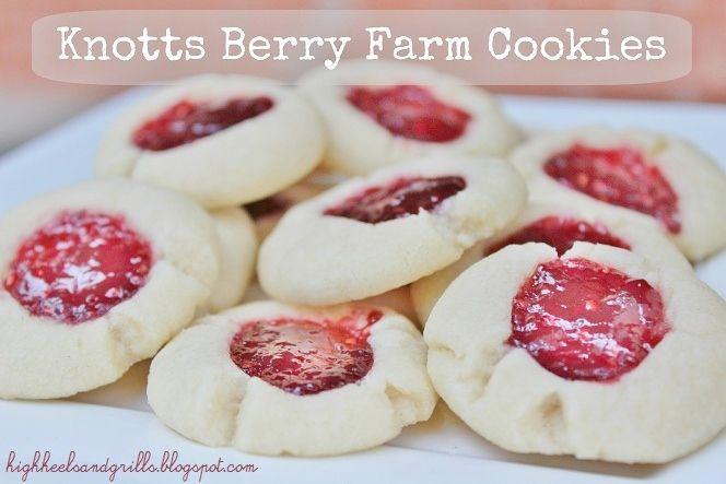 Knotts Berry Farm Shortbread Cookies Copycat Recipe - High Heels and Grills